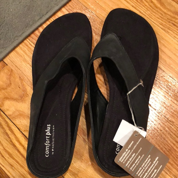 Nwt Comfort Plus By Black Sandals 85